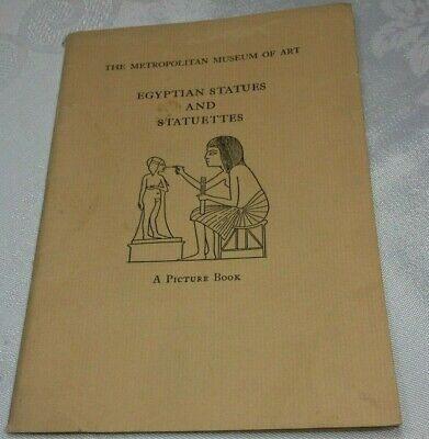 1937 The Metropolitan Museum of Art Egyptian Statues & Statuettes Picture Book