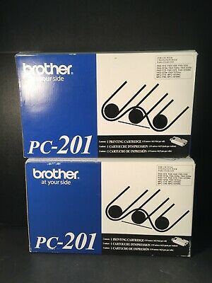 Brother PC-201 Cartridge Black Fax Genuine Lot of 2
