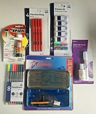 33pc Back to School / Office Stationary Set - Pens Pencils Erasers Sharpeners