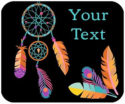 Mouse Pad Custom Thick Mousepad - Dreamcatcher - Add Any Text Free