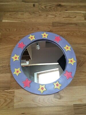 M&S Round Lilac Mirror with Star Pattern
