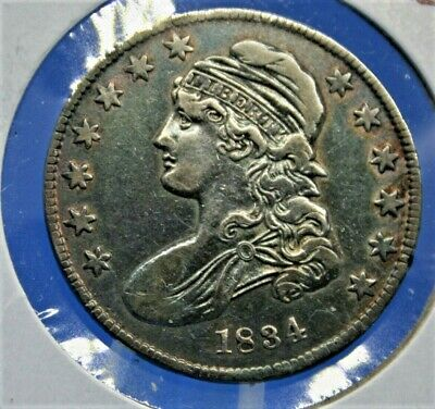 1834 Half Dollar (Capped Bust) Usa Coins