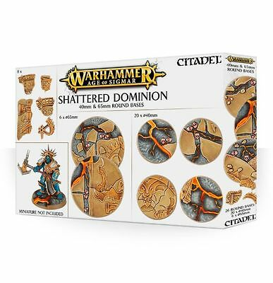 Shattered Dominion 65mm/40mm Rond Bases - Warhammer Aos - Games Workshop