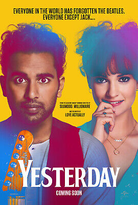 YESTERDAY MOVIE POSTER 2 Sided ORIGINAL INTL Advance NM 27x40 DANNY BOYLE