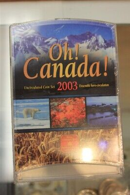 Oh Canada 2003 Uncirculated Coin Set Royal Canadian Mint Rcm Commemorative Seald