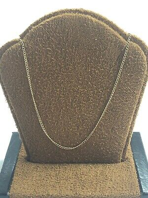"""Gorgeous Vintage 10KT Yellow Gold 417 Dainty Necklace Chain - 1 MM - 18"""" Long"""