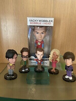 Set of 5 BIG BANG THEORY Mini Bobblehead Dolls by Funko Mini's Are WITHOUT A BOX