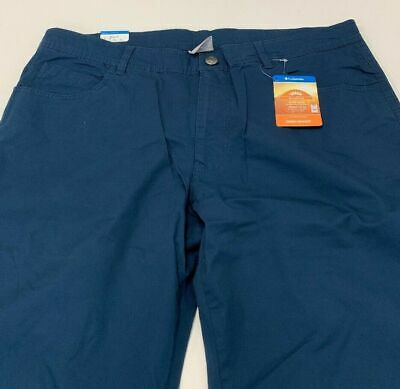 Columbia Omnishade 50 UPF Rated pants Petrol Blue NEW with tags 38x32