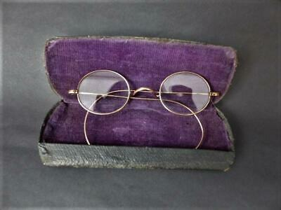 Antique Gold/Gold Plate Glasses With Case