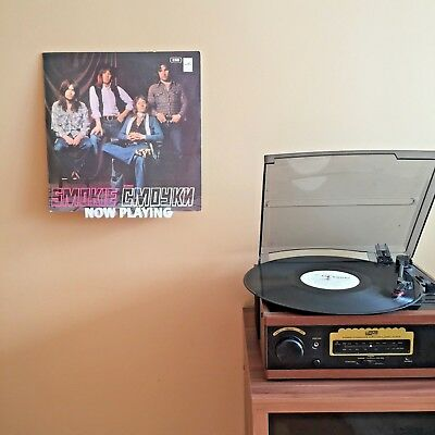 Vinyl Record Shelf Wall Mount Holder Stand NOW PLAYING
