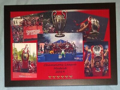 Liverpool Champions League Winners 2018-19 A4 Framed Pemium Colour Print