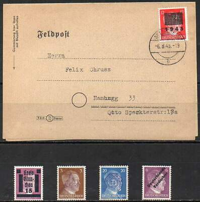 GERMANY 1945. Post War Period Locals, 4 values + 1 cover