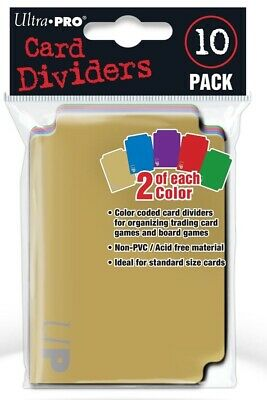 Ultra Pro Color Card Dividers 10 Pack