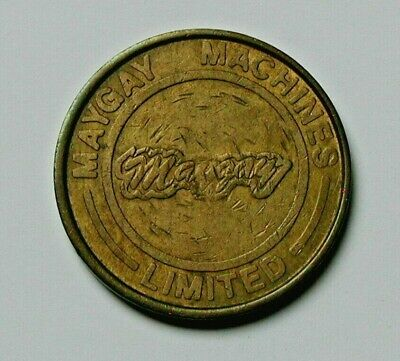 Vintage (1970's British) MAYGAY Machines Limited 10p Token - 10 Pence - brass