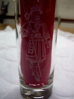 BLACKMAN/'S SYRUP FRUITEE Vintage Tall Frosted Cocktail Glass 1950/'s Advertising