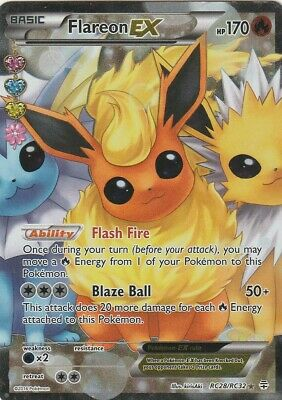 Radiant Collection RC28//RC32 Flareon EX Rare Ultra Holo Mint Pokemon Card