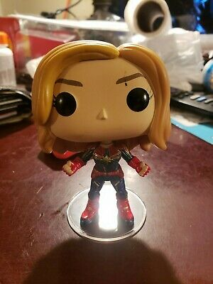 Funko Pop Captain Marvel Unmasked #425 - Open Boxed Used - With Stand