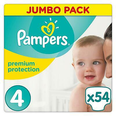 Pampers Premium Protection Baby Nappies Size 4 Disposable Cotton - Jumbo 54 Pack