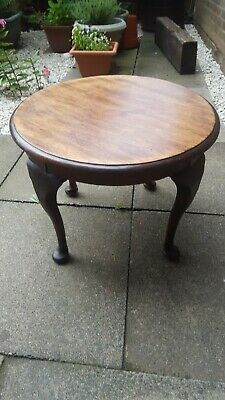 Antique Vintage round Coffee Table Occasional table