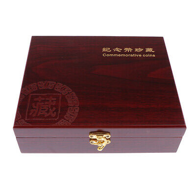 Coins Storage Box Coin Holder for 30pcs Coins 46mm Collectors Wooden Boxes