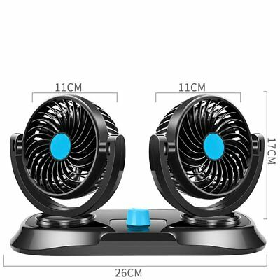12V Portable Car Mini Electric Fan 360 Rotating Air Conditioner Auto Cooler AU