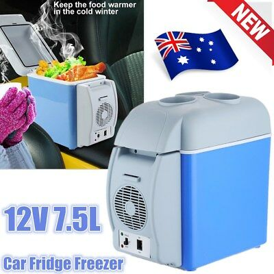 7.5L DC 12V Car Fridge Freezer Cooler Warmer Camping Refrigerator Box Travel AU