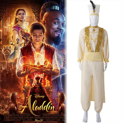 2019 Aladdin Lamp Prince Aladdin cosplay Costume Suit Uniform Halloween Cosplay