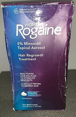 Rogaine Women's Once-A-Day Foam 4Month Supply 5% Minoxidil Treatment 2020