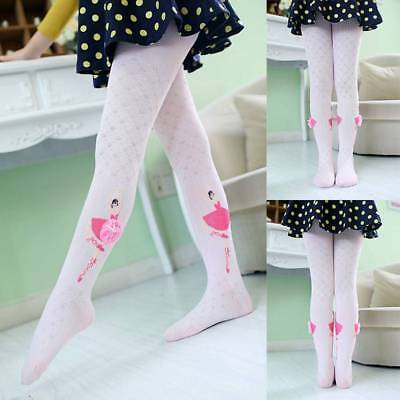 Children Girl High Elastic Breathable Ballet Style Lace Girl Princess Pantyhose