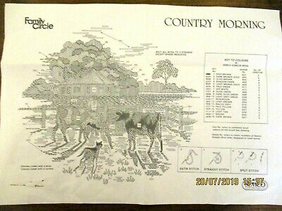"""~Semco Embroidery - """"Country Morning"""" - New & Unused, Ready To Complete~"""