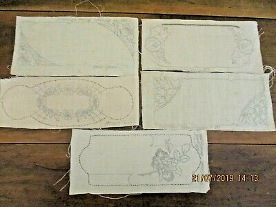 ~Vintage 5 Small Doilies To Embroider - New & Unused, Ready To Complete~