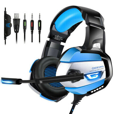 ONIKUMA K5 Wired Headphone PC Gaming Headset 7.1 Surround Sound For PS4 Xbox One