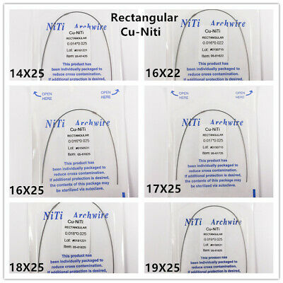 10Pack Dental Orthodontic Copper Cu-Niti Wires Arch Wires Rectangular Damon Form