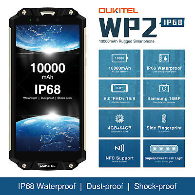 Oukitel WP2 6.0inch 4G Smartphone Android 8.0 Octa Core 4GB + 64GB Libre NFC