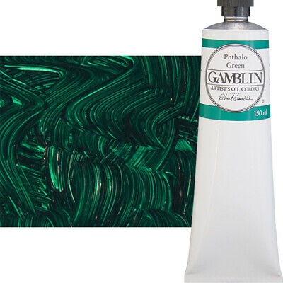 Gamblin Artist's Oil Color 150 ml Tube - Phthalo Green