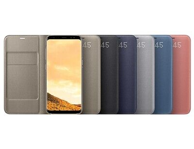Genuine Official Samsung Galaxy S8 LED View Cover Black,Gold,Blue,Violet