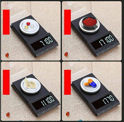 100g/0.001g Digital Milligram Scale High Precision Jewelry Balance Gram Weigt UK