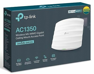 TP-Link Access Point EAP225 V3 AC1350 Wireless Dual Band Gigabit Ceiling POE