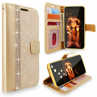 Luxry Bling Diamond Leather Wallet Flip Stand Case For i Phone Xs Max X 8 Plus 7