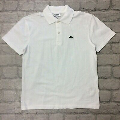 Lacoste Sports Boys Age 14 White Polo Shirt Summer Holiday Junior Rrp £45 J