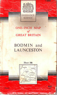 BODMIN ORDNANCE SURVEY MAP ONE INCH MAP ORIG PRICE 6/6d VGC