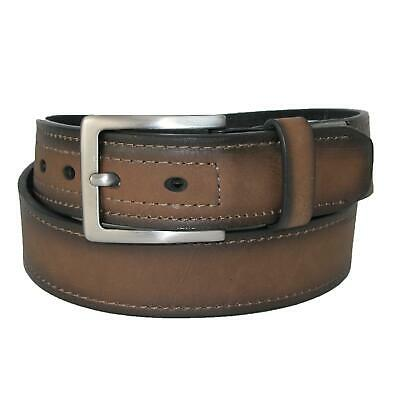 New Dickies Men's Reinforced Leather Industrial Strength 1 1/2 Inch Belt