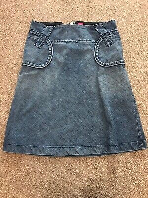 New Look Denim Skirt Size 12 Great Used Condition. Light Blue Zip Back