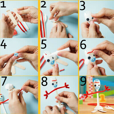 Forky Toy Story 4 Make Your Own Kit Ideal Present Or Party Bag Filler Uk New Toy