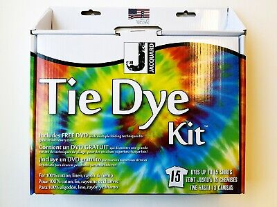Jacquard Ultimate Tie Dye Kit includes DVD - dyes up to 15 T shirts
