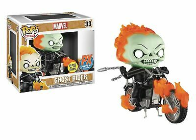 Funko Pop Rides Marvel Classic Ghost Rider With Bike (Glow In The Dark Version)