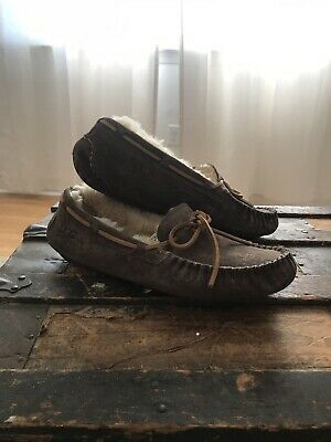 4631ba8f96a UGG 5317 WOMENS Leather & Sheepskin Slippers Shoes Size 7 - $35.98 ...