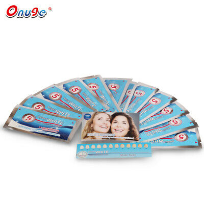 28 X 3D White Teeth Whitening Strips Advanced Tooth Bleaching + Free Toothpaste