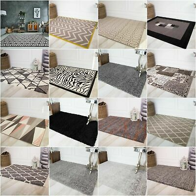 Black Grey Silver Neutral Small Large Rugs Big Size Floor Carpet Rug Mat Cheap