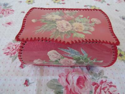 Vintage Floral Handmade Card Craft Lidded Box Home Decor
